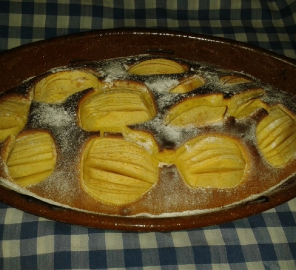 Tarta de Bizcocho de Manzana con Thermomix®