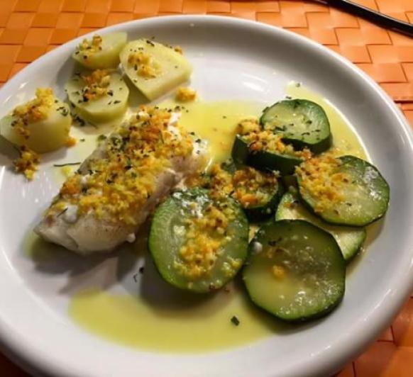 Bacalao con salsa de citricos