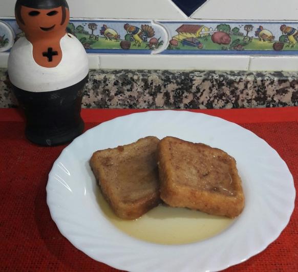 Torrijas de leche al aroma de Pedro Ximenez